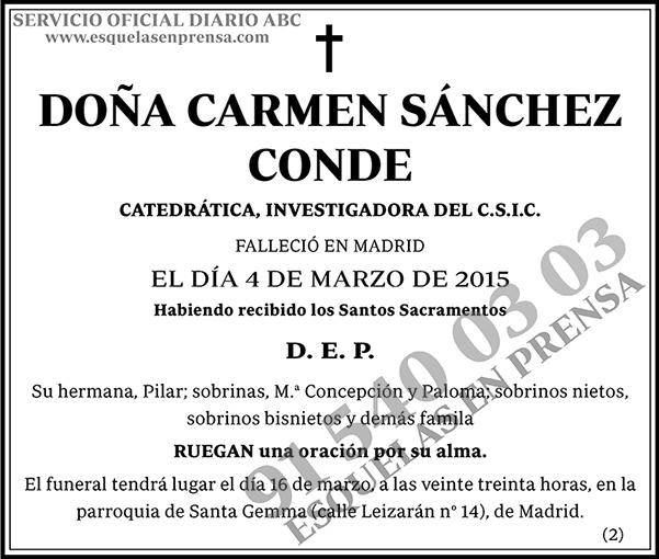 Carmen Sánchez Conde